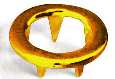 Ring prong golden brass