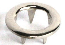 Prong ring nickel-plated brass