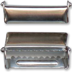 Nickel-plated strap adjuster buckle 36mm