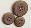 4-hole button (Plastic - 16mm - Leather circled bronze)