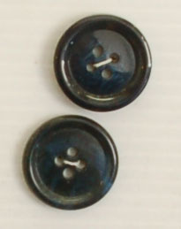 4-hole button (Plastic - 22mm - Navy shiny speckled)
