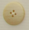 4-hole button (Plastic - 25mm - Light beige flecked)