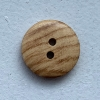 2-hole button (Wood - Natural wood - 11mm)
