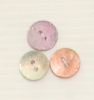 2-hole button (Mother-of-pearl - Pink - 11mm)