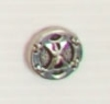 2-hole button (Metal - chained silver - 12mm)