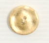 2-hole button (Plastic - Golden - 12mm)