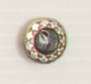 2-hole button (Metal - Silvery setting - 12mm)