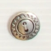 2-hole button (Metal - Silver sun - 14mm)