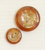 2-hole button (Plastic - Amber-coloured - 14mm)