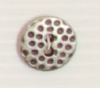2-hole button (Metal - Silver cratered - 15mm)