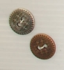 2-hole button (Metal - Bronze sun - 15mm)