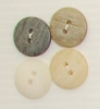 2-hole button (Plastic - Dark grey - 15mm)