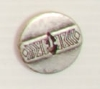 2-hole button (Metal - Inca silver - 19mm)