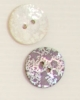 2-hole button (Mother-of-pearl - Blue - 20mm)
