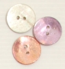 2-hole button (Mother-of-pearl - White - 20mm)