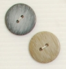2-hole button (Plastic - Flecked light grey - 22mm)
