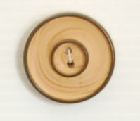 2-hole button (Plastic - Black circled wood - 26mm)