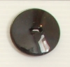 2-hole button (Plastic - Shiny black - 31mm)