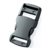 Snap-on buckle (25mm - Black - Plastic)