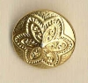 Shank button (Metal - Golden flower - 12mm)