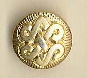 Shank button (Metal - Golden Maori - 12mm)