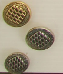 Shank button (Metal - Silvery elements - 18mm)