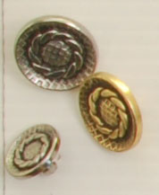 Shank button (Metal - Silvery rosette - 18mm)