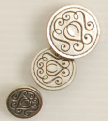 Shank button (Metal - Delight - 18mm)
