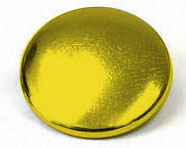 Reinforced cap 15mm aged brass