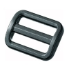 Double slider (Plastic - 15mm - Black)