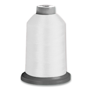 Textured polyester thread 100 10,000m cone (White)