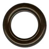 Eyelet diameter 4mm black-lacquered brass
