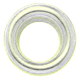 Eyelet diameter 6mm ivory-lacquered brass