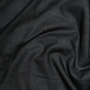 Iron-on stiff black cotton canvas