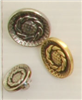 Shank button (Metal - Silvery rosette - 15mm)