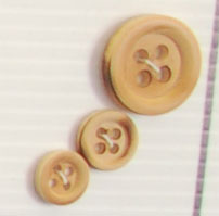 4-hole button (Wood - 11mm - Burnt)