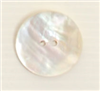 2-hole button (Mother-of-pearl - Natural - 28mm)