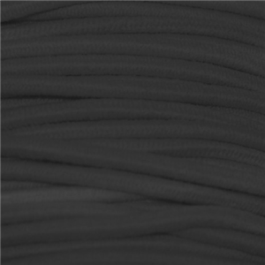 Elastic cord (2mm - Polyester - Black)