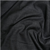 Iron-on soft black cotton canvas