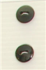 2-hole button (Plastic - Shiny black - 12mm)