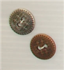 2-hole button (Metal - Silver sun - 15mm)